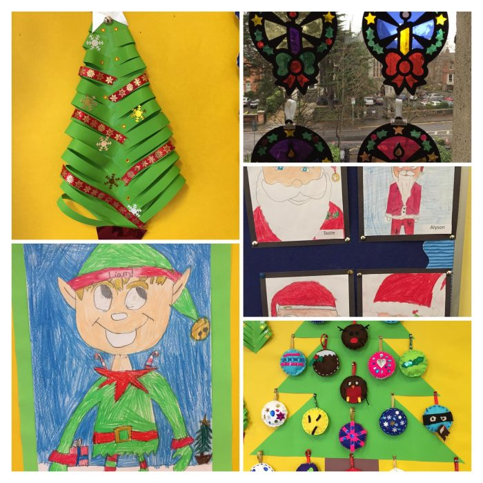 Form Four Christmas Art